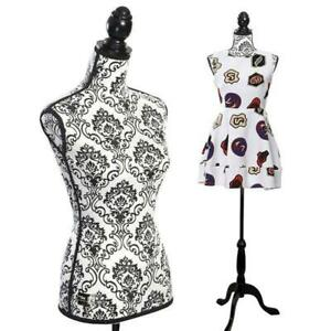 Female Adjustable Fiberglass Mannequin Dress Form Sewing Torso Display Tripod