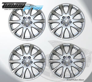 Silver 15 Inches 503 Pop On Hubcap Wheel Rim Skin Covers 15 Inch 4pcs
