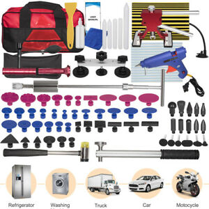 Auto Car Body Paintless Dent Repair Removal Tool Kit Glue Sticks Puller Tabs