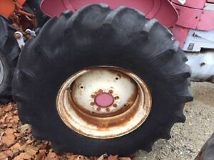 18 4 X 26 Firestone Tires 75 Massey Mf Allis Ac Tractor 8 Bolt 16 Wide Rims