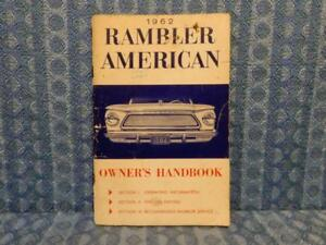 1962 Rambler American Original Owners Manual