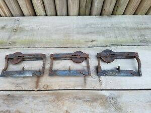 Lot Of 3 Antique Victorian Lane S Parlor Door Hanger Pocket Door Roller Hardware