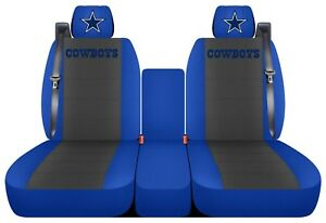 Truck Seat Covers 2007 Ford F 150 With Integrated Seat Belts Blue And Charcoal