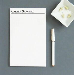 Memo Pads 12 personalized Notepads With Name Small Notepad 100 Pages Pads