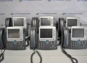6 Lot Cisco Ip Phone 7965 Cp 7975g 0765 04 1086 W handset Stand
