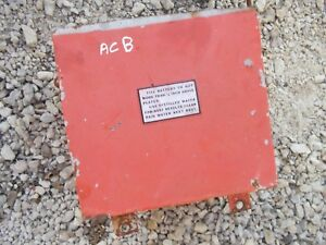 Allis Chalmers B Tractor Ac Battery Box Assembly W Lid