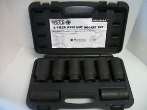 Matco Tools Axl4548a 1 2 Dr 6pt Metric 8 Piece Axle Nut Deep Socket Set 29 39mm
