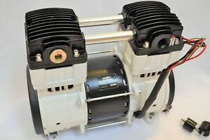 Twin Piston Oilless Vacuum Pump 10cfm Science Medic dental Workshop Continuous