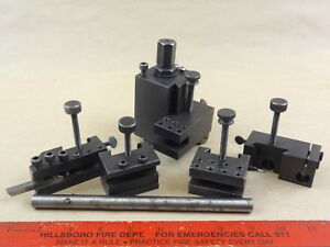 Powers Quick Change Tool Post Holders Set Assembly For Lathe