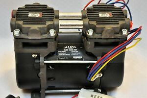 Dry Run Twin Piston Oilless Vacuum Pump compressor 1 5cfm Push pull O2 Generator