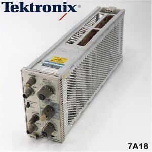 Tektronix 7a18 Dual Trace Amplifier Plug in Module For Oscilloscope