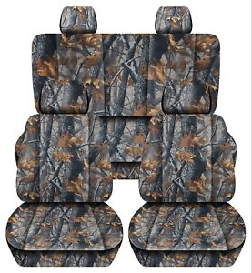 Truck Seat Covers 2015 2018 Ford F150 40 20 40 Front 60 40 Rear Dark Tree Camo