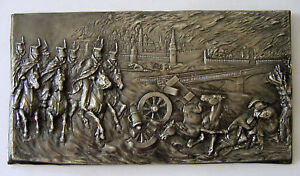 Napoleon Invasion Of Russia Moscow Battle Plate 1812 Bronze