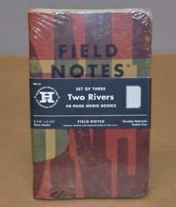Field Notes Two Rivers Edition Sealed 3 pack Memo Notebooks Spring 15 Rare