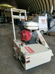 Edco 10 Concrete Surface Planer Scabbler Grinder Honda Gx340 11hp Saw