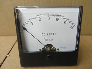 Simpson Panel Meter Dc Volts 0 30 9770 Nib Nos