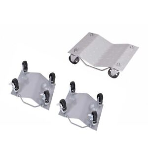 New Set Of 4 Auto Dolly Car Dolly Wheel Tire 12 x16 Skate Repair Slide Us