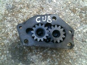 Farmall Cub Tractor Ih Engine Oil Pump Assembly W Cover Houseing
