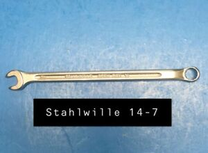 Stahlwille 14 7 Wrench Long Combination Open Box 7mm Type 14 135mm Long