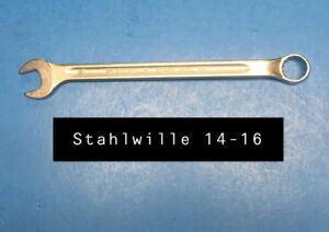 Stahlwille 14 16 Wrench Long Combination Open Box 16mm Type 14 230mm Long