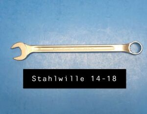 Stahlwille 14 18 Wrench Long Combination Open Box 18mm Type 14 255mm Long