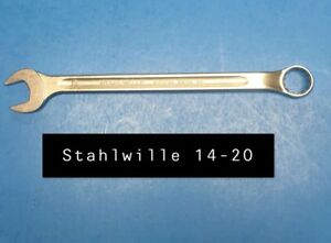 Stahlwille 14 20 Wrench Long Combination Open Box 20mm Type 14 280mm Long