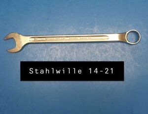 Stahlwille 14 21 Wrench Long Combination Open Box 21mm Type 14 280mm Long
