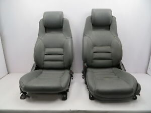 1986 1992 Toyota Supra Mk3 1062 Grey Leather Power Front Seats Oem