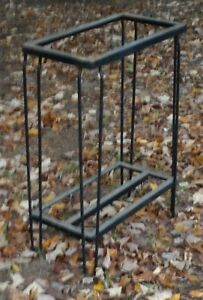 Vintage Mid Century Iron Fish Tank Aquarium Stand Hairpin Legs Patio Table Base