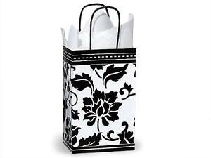 2 Unit Rose Floral Brocade Paper Bags Mini Pk 5 1 4x3 1 2x8 1 4 Unit Pack 25