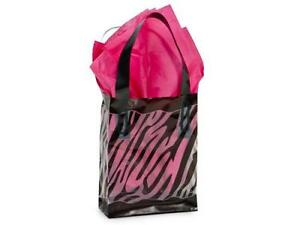 1 Unit Zebra Plastic Bags Bulk 3 Mil Shopping 4x2x5 1 4 Unit Pack 250