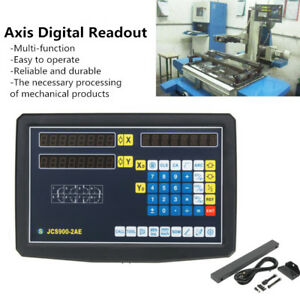 2 Axis Digital Readout Linear Scale Dro Kit Display Cnc Milling Lathe Encoder Us