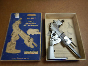 Vintage Craftsman 6677 Drill Sharpening Grinding Fixture In Box