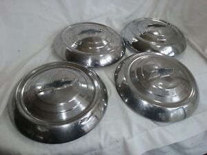 1951 1952 1953 Chevy Dog Dish Hub Caps 9 5 Chrome Set Of 4 Hc909