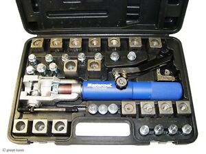 Hydraulic Flaring Tool Set Mastercool 72485 Prc With Mini Tubing Cutter