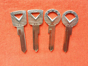 4 Ford Falcon Galaxie Thunderbird Fairlane Key Blanks 59 60 61 62 63 64