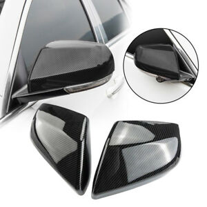 2pcs Carbon Fiber Abs Side Rearview Mirror Cover Trim For Cadillac Ats l 2014 18