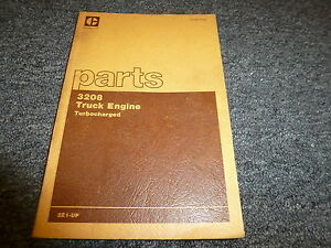 Caterpillar Cat 3208 Turbocharged Truck Engine Parts Catalog Manual S n 2z1 up