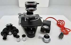 Ernst Leitz Wetzlar Binocular Microscope Light Source eyepieces condenser turret