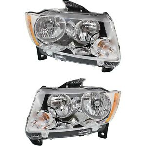 Headlight Set For 2011 2012 2013 Jeep Grand Cherokee Left And Right Capa 2pc