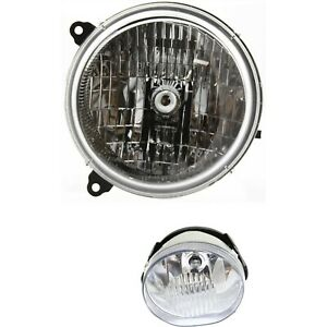 Headlight Kit For 2003 2004 Jeep Liberty Left Side 2pc