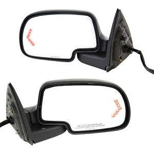 Power Mirror For 1999 2006 Chevy Silverado 1500 Heated Manual Folding Set Of 2