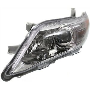 Headlight For 2010 2011 Toyota Camry Le Xle Left Chrome Housing With Bulb Capa