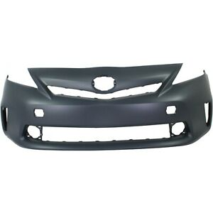 Bumper Cover For 2012 14 Toyota Prius V Led Lamp With Pre Collision Sys Capa