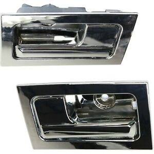 Interior Door Handle For 2009 2014 Ford F 150 Set Of 2 Chrome Plastic