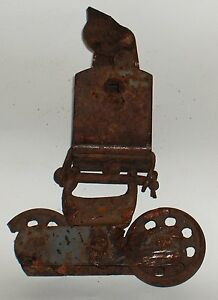 Funky Old Barn Door Roller Rustic Decor Only One Wheel Cracked See Photos