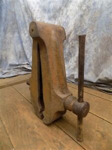 Blacksmith Post Vise Leg Cast Iron Vintage Tool Anvil Amish Forge Blacksmith Bj