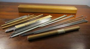 Collection Knitting Crochet Needles In Antique Birdseye Maple Treenware Box