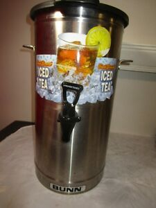 Bunn Commercial Restaurant Tdo 4 Iced Tea Dispenser W Brew through Lid 4 Gallon