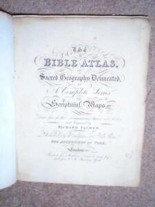 Bible Atlas Sacred Geography Delineated Scriptural Maps Richard Palmer 1823